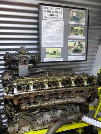 Ballasalla, UK: Old Spitfire Engine - Manx Military Museum - IoM (09/Jul/18).