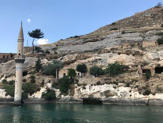 Halfeti, Turkiet: утонувший городок