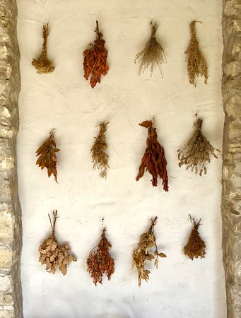 Drying on the wall.
