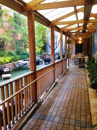 Outside meeting and breakfast area