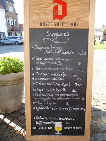 Resto Huyze Saeftinghe in Lissewege, the suggestion card