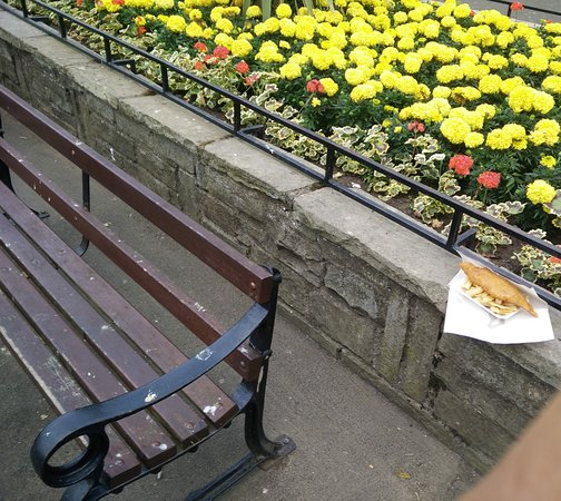 Seaway Restaurant: park bench