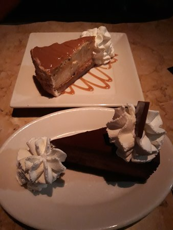 The Cheesecake Factory: The dark one is the gluten-free cake