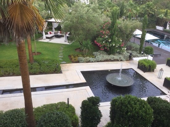 Moroccan Garden Features Copious Water Beauty Peace And