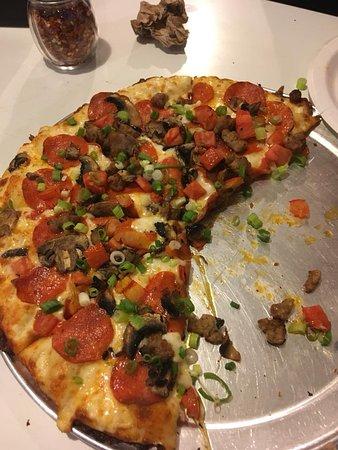 Dull Dark And Boring Review Of Round Table Pizza Half Moon Bay Ca Tripadvisor