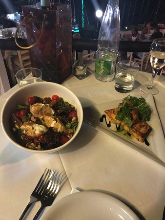 The Windmill Restaurant: Windmill salad and shrimp bruschetta
