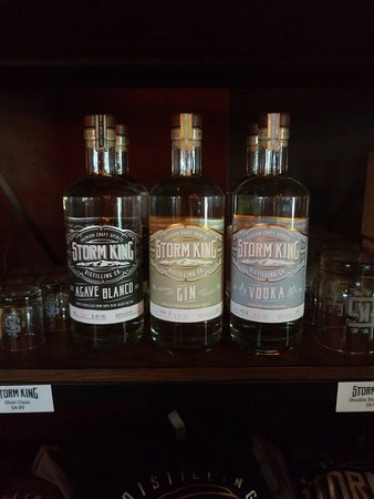 Storm King Distilling Co.: The current lineup, Agave, Gin and Vodka.