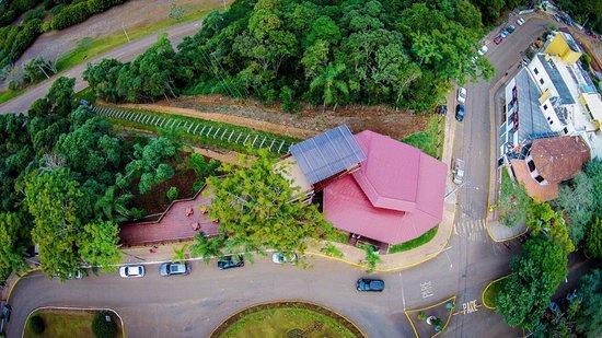Ita, SC: Foto aérea da Estação do Itá Eco Turismo.