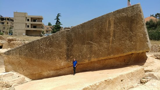 "Baalbek Roman Ruins: The 1000-ton ""Pregnant Block"" in the quarry near the temple. It was never extracted."