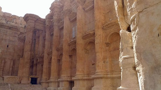 "Baalbek Roman Ruins: Inside the temple of Bacchus. Basically it was a ""gentleman's club."" Music concerts are held the"