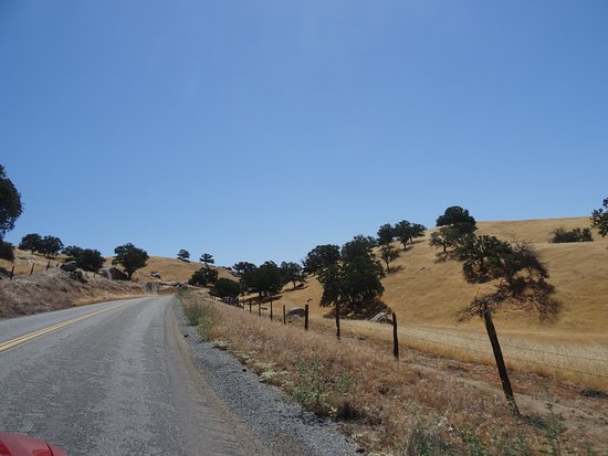 Ponderosa, CA: route qui mène au trail