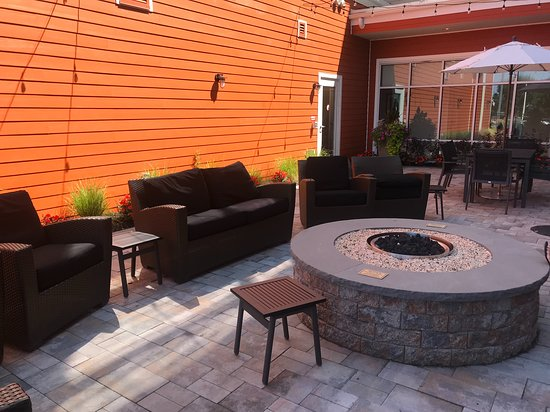 One Of The Two Outdoor Seating Areas
