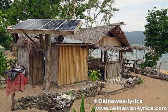 Malekula Island, Vanuatu: They have a solar panel. So you can charge your batteries.