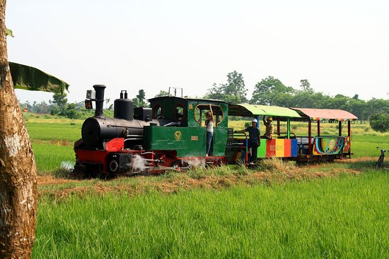 Pasuruan, Индонезия: Steam excursion train on scenic field lines