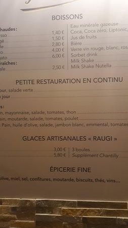 e8313b7ac9ec1 Carte - Picture of Gustino Ajaccio - Gourmandise Glacee & Epicerie ...