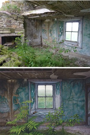 Prudhoe, UK: Garden Room, the painting is below and the actual room above.