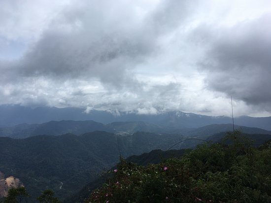 Perak, Malaysia: Lucky Day clear view. Was told usually foggy and low visibility