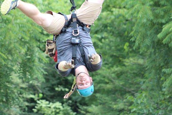 Foxfire Mountain Adventures: guide teaching us how