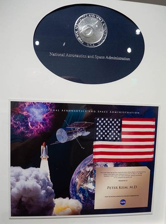 Tampa Bay History Center: This is the actual American Flag that flew on the Atlantis Space Shuttle.