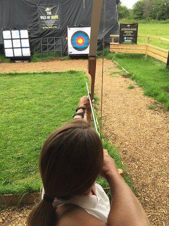 Somerford Keynes, UK: Trying to hit the target!