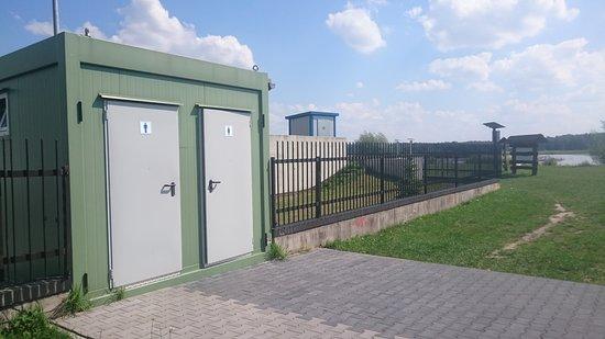Izabelin, โปแลนด์: PRZEPRASZAM, ale są i toalety ...tyle że trzeba je znaleźć