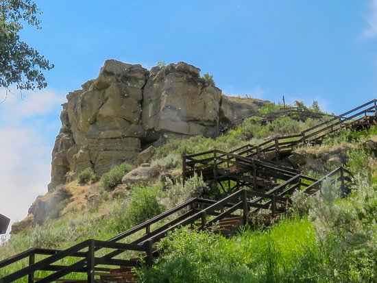 Pompeys Pillar, MT: the Rock and stairs