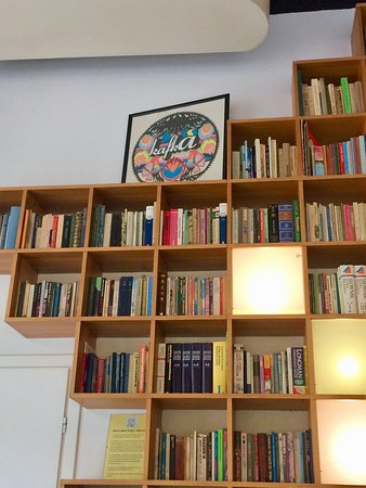Kafka Cafe: Book wall