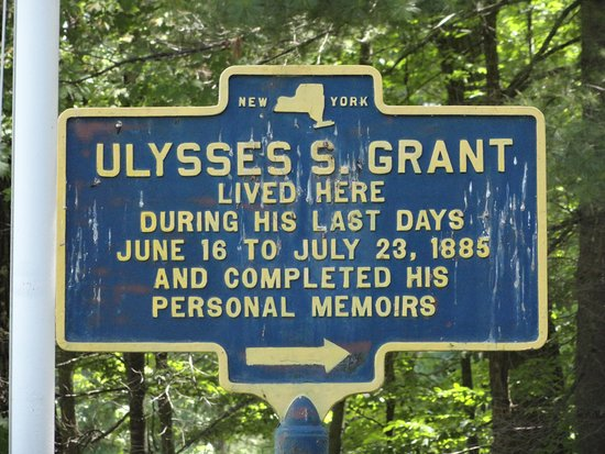 Wilton, NY: historical sign