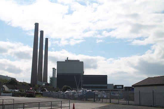 Islandmagee, UK: Ballylumford power station
