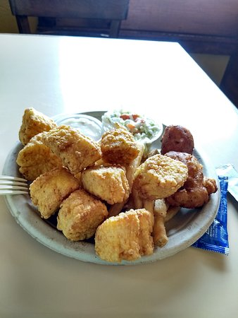 Captain Frosty's Fish & Chips: Fried Scallop plate