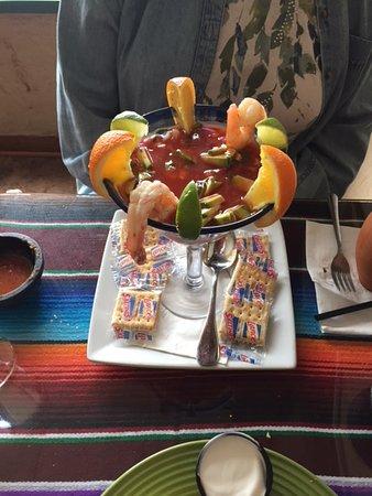 """Slinger, WI: """"award winning"""" (our award at least) shrimp cocktail"""