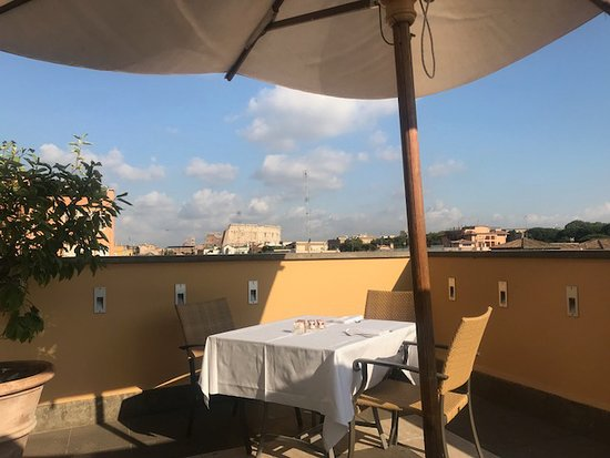 Capo D'Africa Hotel – Colosseo: view from the breakfast terrace