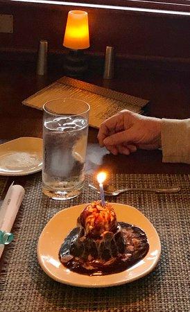 Complimentary birthday dessert