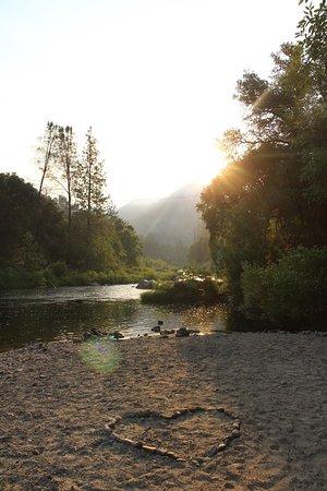 Orange Sky Adventures: The Merced River near our campsite