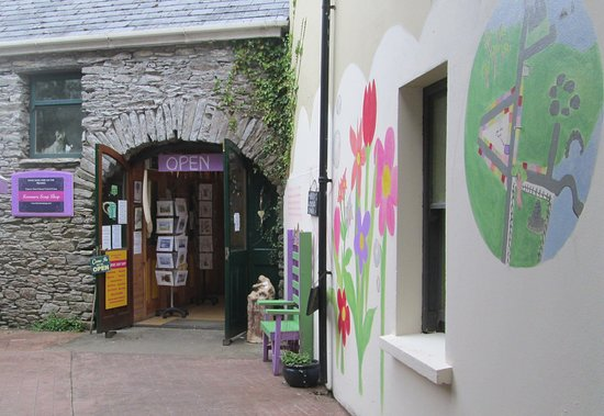 Kenmare, Ireland: Take a walk through our lovely courtyard & make a wish in our fairy chair