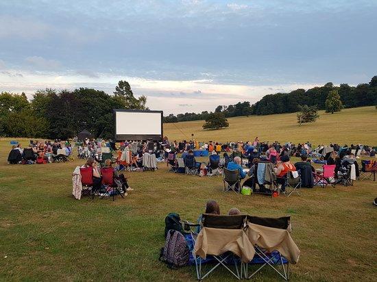 Kedleston, UK: Big screen