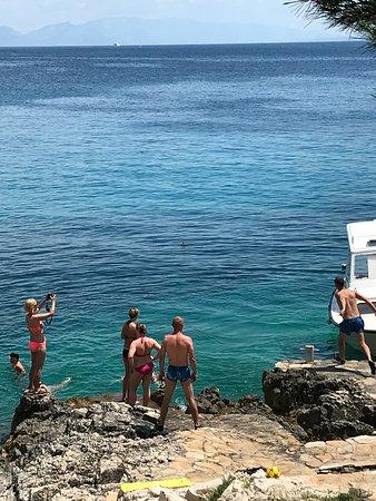 Ciovo Island, Croacia: jump into sea point