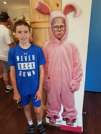 A Christmas Story Bunny Suit.You Can Rent Or Buy The Pink Bunny Suit Picture Of A