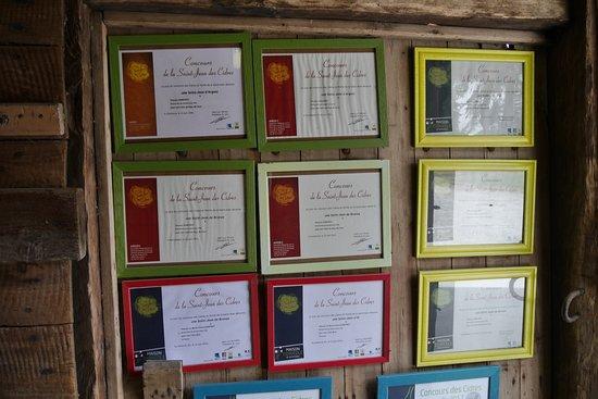 Ecomusee de la Pomme et du Cidre : Cidre Zertifikate