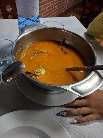 Mestas de Con, Espanha: Sopa de Marisco