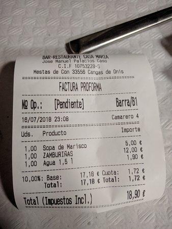 Mestas de Con, Espanha: Cuenta