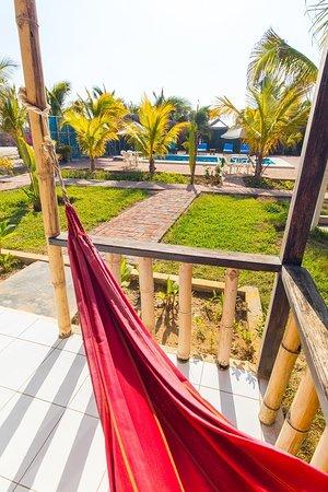 Hamaca En La Terraza Bungalow Caballito De Mar Punta