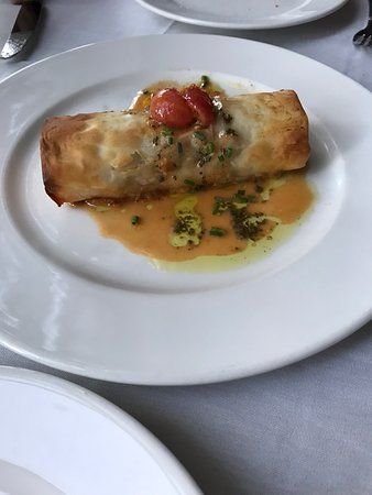 Glass Onion: This is the lobster strudel.