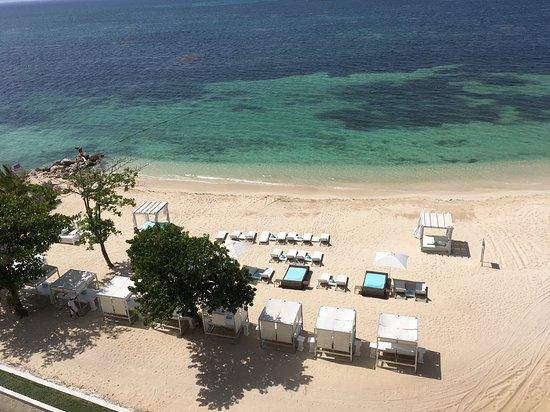 Prestige area at end of resort