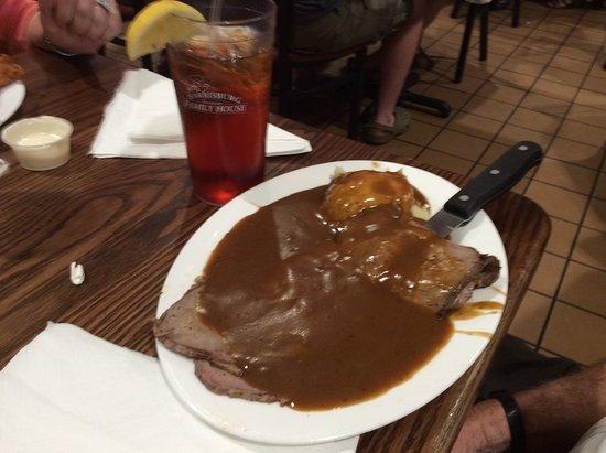 Harrisburg, NC: I think roast beef and gravy