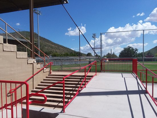 Warren Ballpark: View into the ballpark from the north.