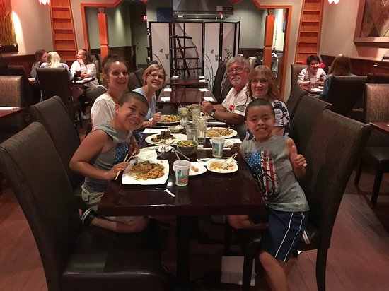 Asian Bistro LLC: Family visiting from the State of Washington