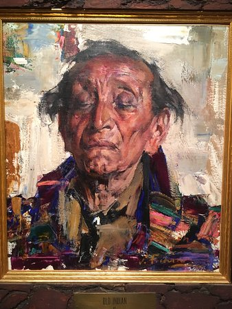 "Woolaroc Museum & Wildlife Preserve: Nicolai Fechin painting in the Woolaroc collection, ""Old Indian"""