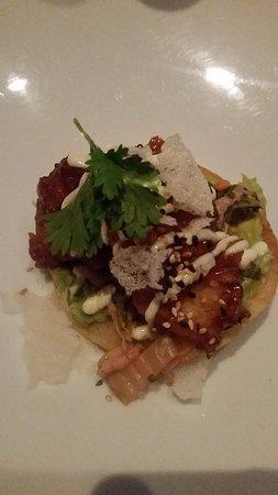 One Restaurant: Shrimp Tostada - so, so, so good!