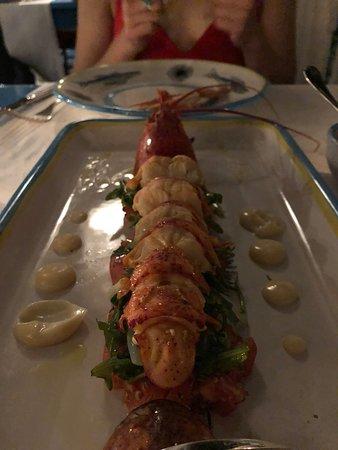 Ristorante & Beach Club Il Riccio: Blue lobster